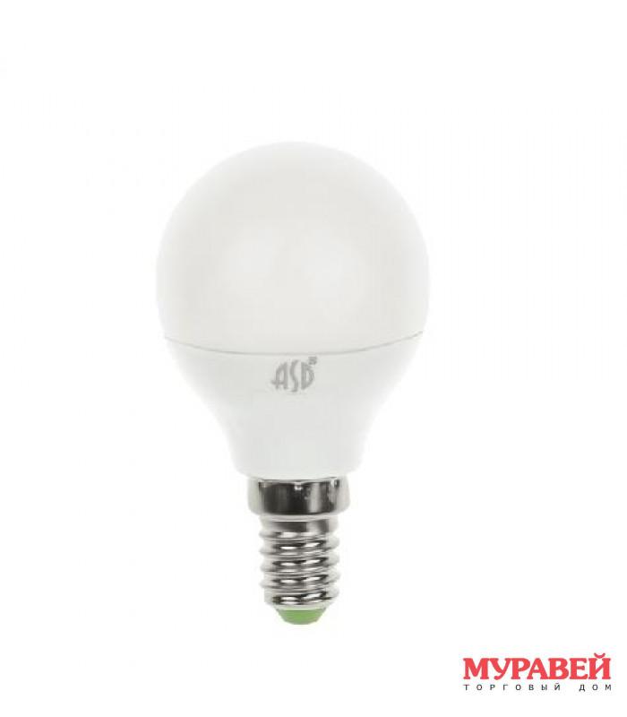 Лампа ASD LED-шар-standart 7,5Вт 160−260 В Е14 3000К