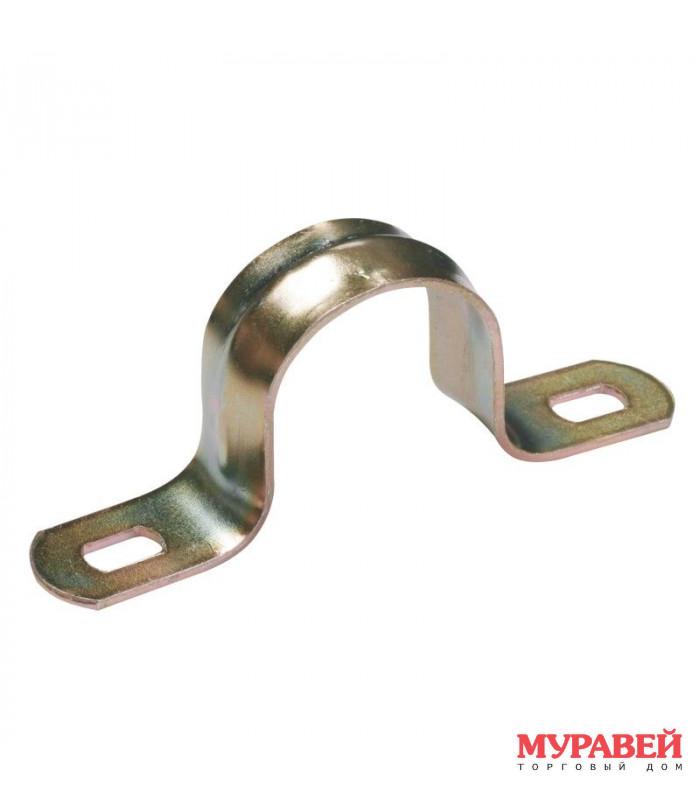 Скоба TDM 2-х лапковая,метал. 16−17 мм 100 шт