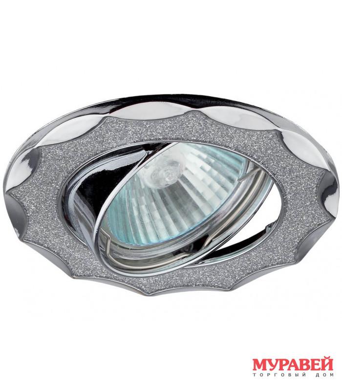 Светильник точечный ЭРА DK17 CH/SH SL хром / серебро