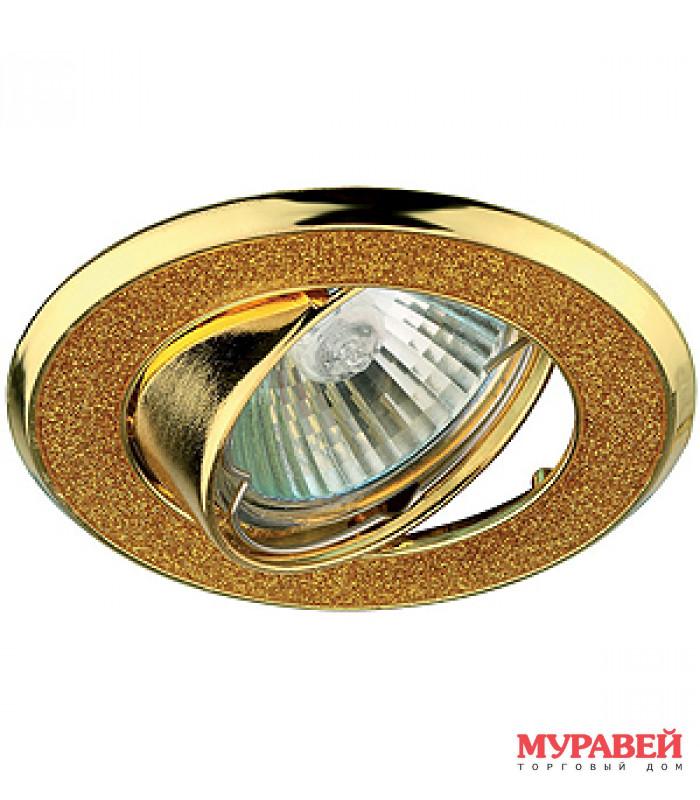 Светильник точечный ЭРА DK18 GD/SH YL золото / золотой