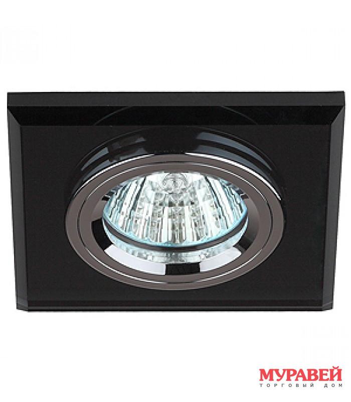 Светильник точечный ЭРА DK8 CH/BK хром / черный