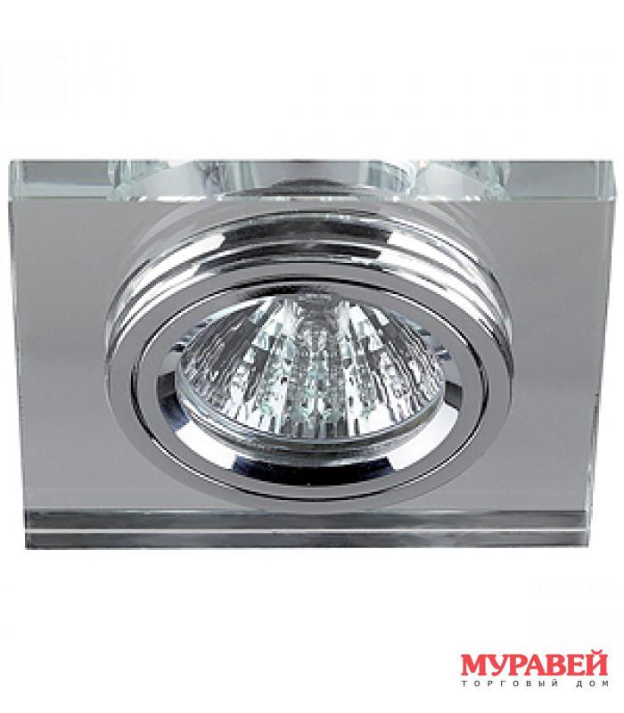 Светильник точечный ЭРА DK8 CH/WH хром / зеркальный