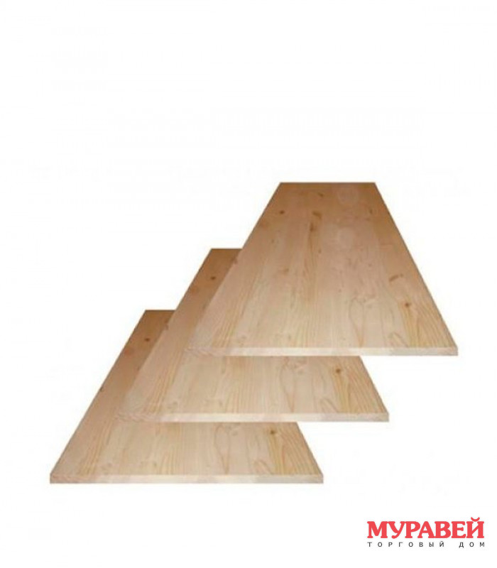 Мебельный щит 18×400×2500 мм сорт АВ сращенный сосна