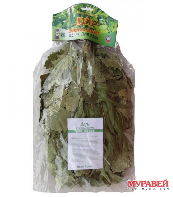 Веник с эвкалиптом «экстра» (в упаковке)