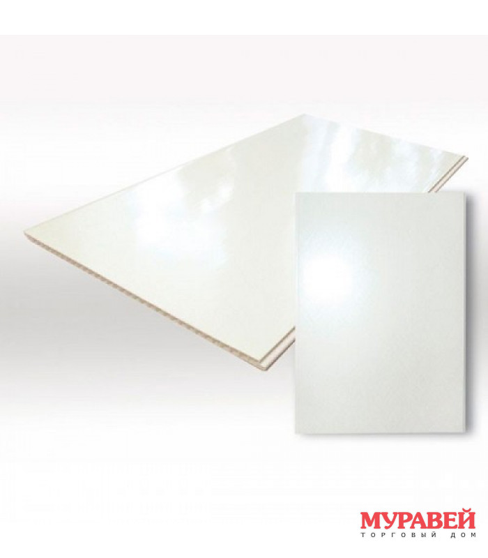 Панель ПВХ глянец белый 375х3000 мм