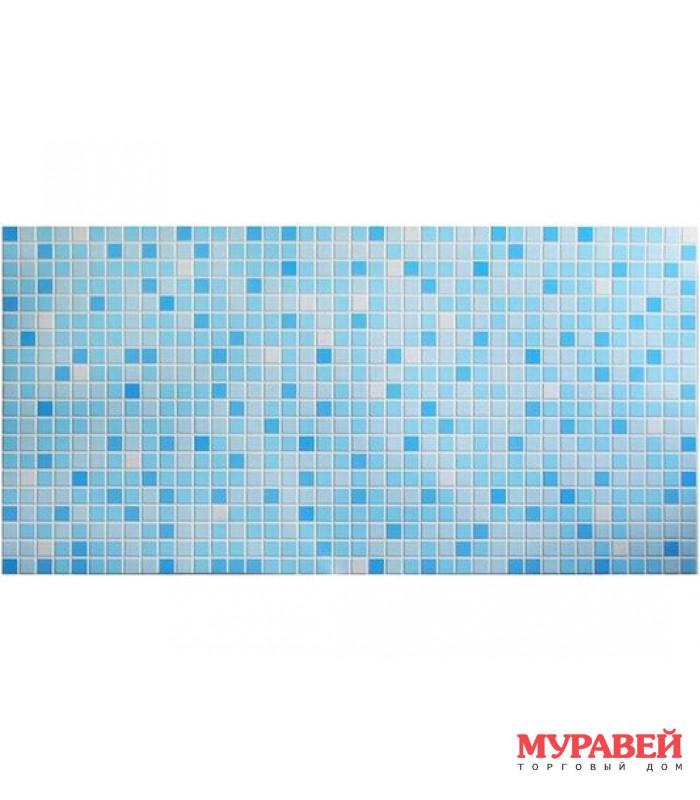 Панель ПВХ мозаика «микс голубой» 956х480х0,3 мм