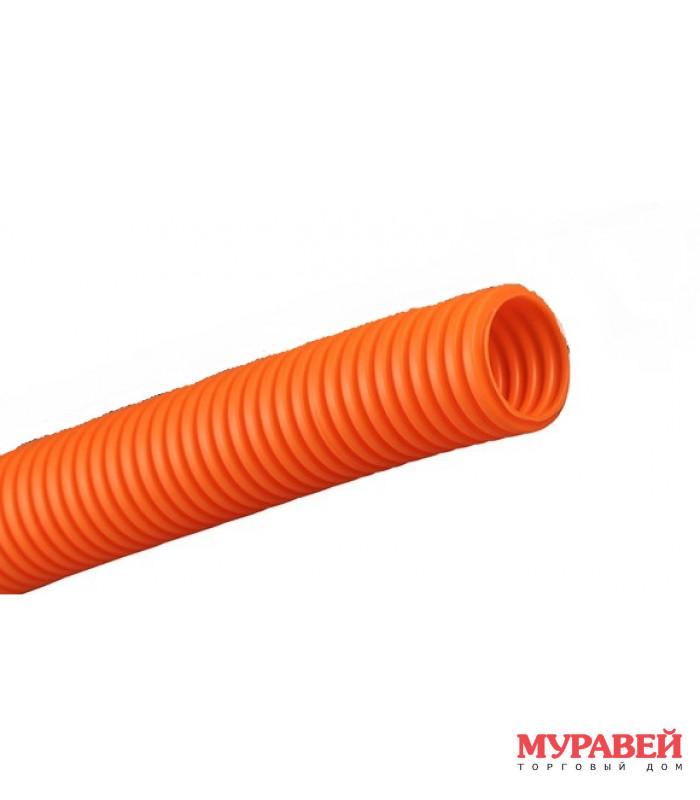 Гофра-канал эл ПВХ d25 мм оранж.