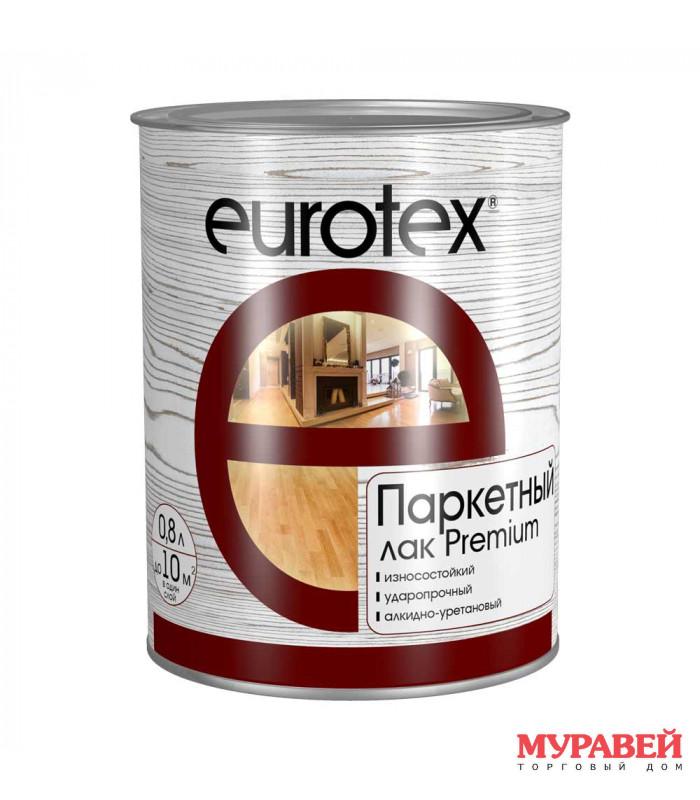 Лак паркетный EUROTEX-PREMIUM полуматовый 2,5 л