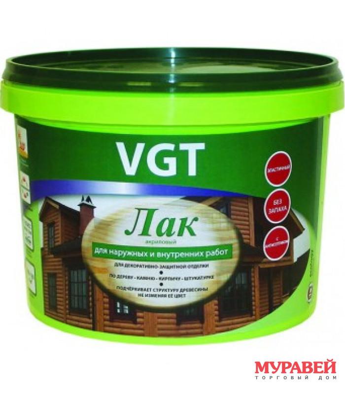 Лак ВГТ акриловый для нар/вн раб б/ц глянц. 2,2 кг
