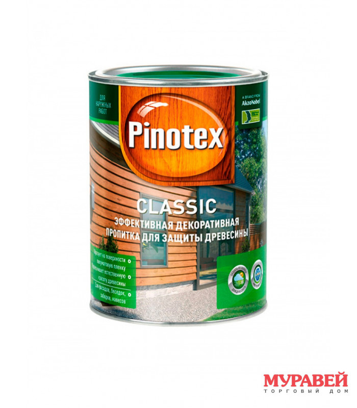 Пропитка PINOTEX Classic 1 л орех