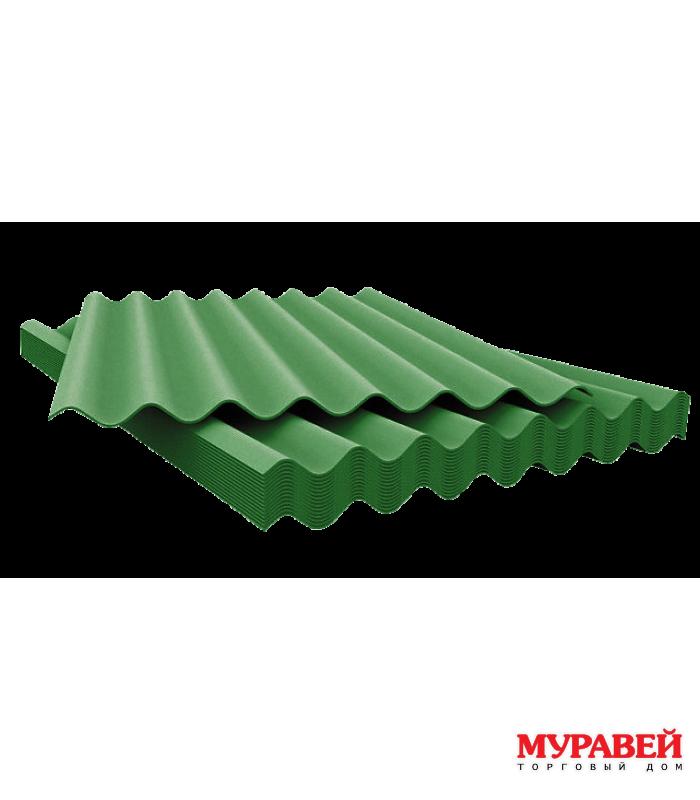 Шифер 7-ми волновой 0,96х1,75 цветной зеленый