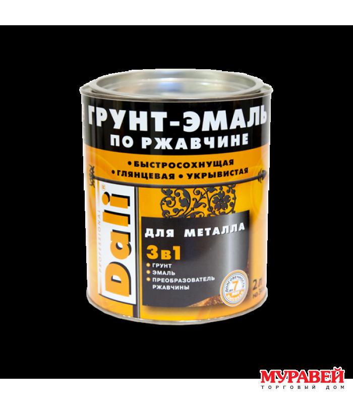Грунт-эмаль по ржавчине черный 0,75 л Dali