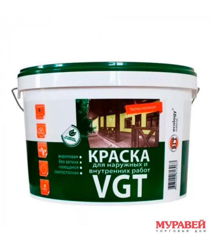 Краска водоэмульсионная для наружных и внутренних работ 3 кг VGT