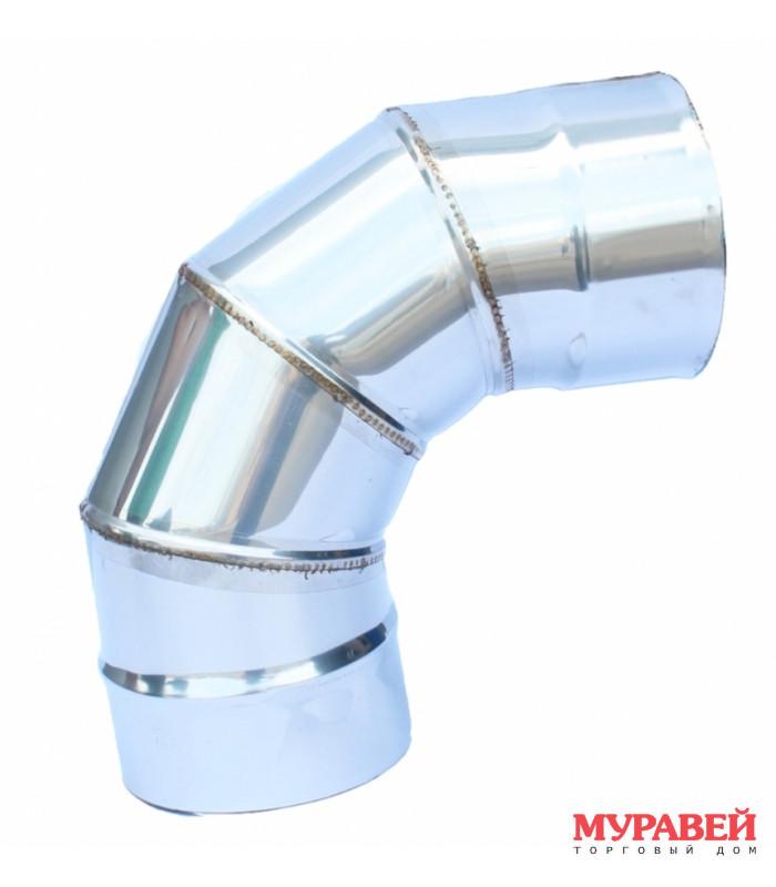 Колено на трубу 100 мм 45 гр оцинкованное