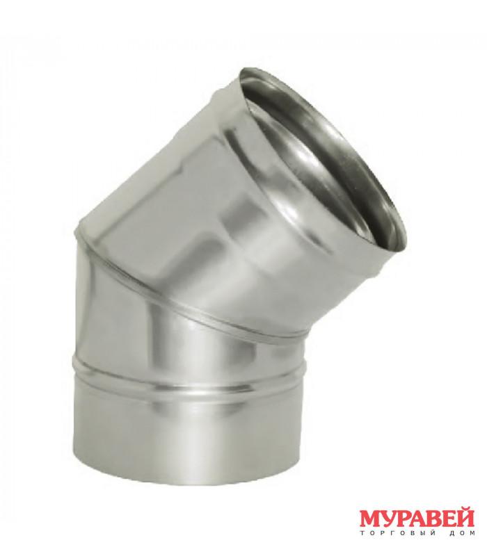 Колено на трубу 130 мм 45 гр оцинкованное