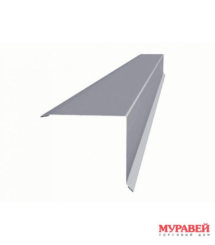 Планка ветровая 2 м оцинкованная