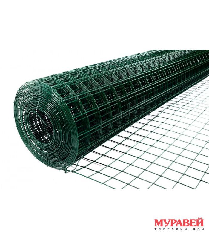 Сетка сварная оц. с пвх 50×50×1,8 мм 1,5х15 м