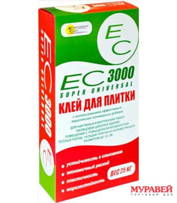 Клей для плитки ЕС 3000 25 кг