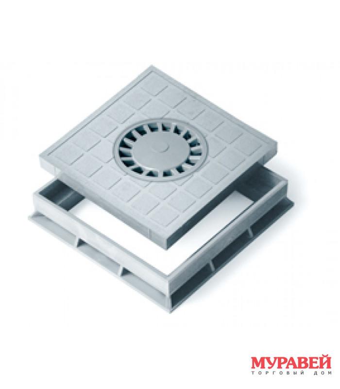 Крышка 400×400 с сифоном+рамка 4995