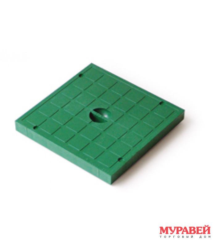Крышка к водостоку 200×200 зелёная