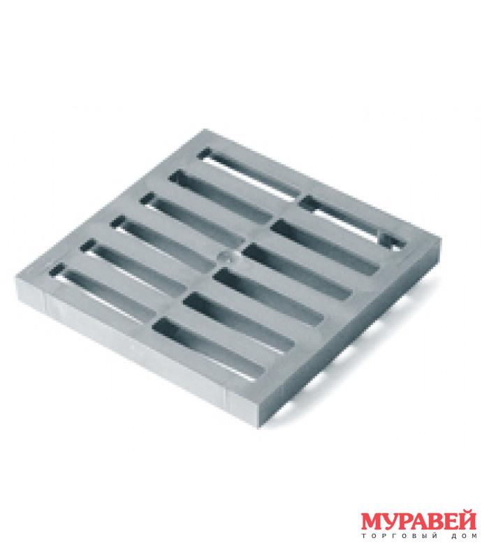 Решетка для водостока 200×200 серая 4725