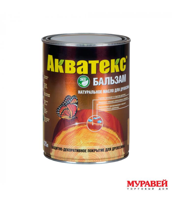 Масло для дерева Акватекс-Бальзам 0,75 л эбеновое